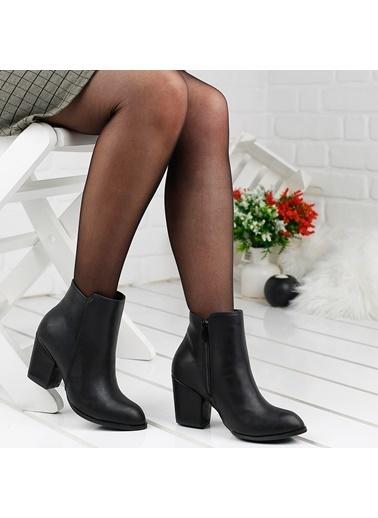 Ayakland Ayakland 1111-2000 Cilt 6Cm Topuk Termo Bayan Bot Ayakkabı Siyah